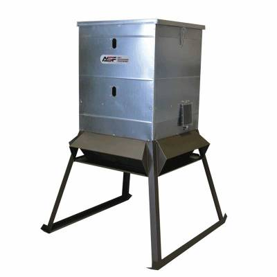 all seasons 600lb stand fill electric protein deer feeder. Black Bedroom Furniture Sets. Home Design Ideas