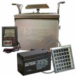 All Seasons 12v Spin Feeder Deer Feeder Kit Combo with Solar Panel and Battery