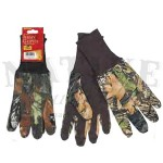 Allen Jersey Gloves wtih Dot Grip and Long Knit Cuffs - Mossy Oak Break-Up