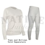PolarMax Women's Base Layer Basic Pants - Large White