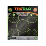 Truglo Tru-See 5 Bull Targets 12x12 - 12-Pack