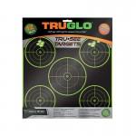 Truglo Tru-See 5 Bull Targets 12x12 - 12-Pack