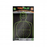 Truglo Tru-See Handgun Target 12x18 - 6-Pack Green