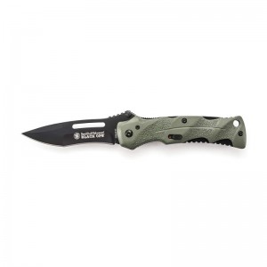 Smith & Wesson Black OPS 2 Folding Knife - Green Handle